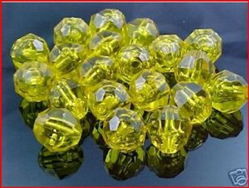 Beads Faceted 12mm GOLDEN YELLOW 20/PK*