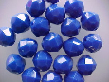 Beads Faceted 12mm BLUE 20/PK