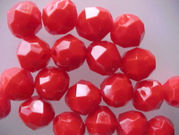 Beads Faceted 12mm BLOOD RED 20/PK*