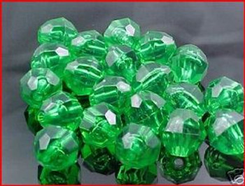 Beads Faceted 12mm TRANS.MINT 20/PK