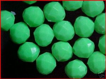 Beads Faceted 12mm GREEN 20/PK*