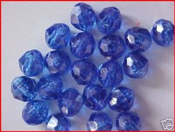 Beads Faceted 12mm TRANS.DK BLUE 20/PK