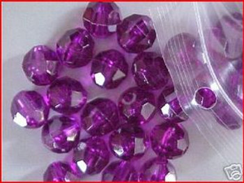 Beads Faceted 10mm PURPLE 36/PK