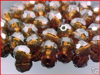 Beads Faceted 10mm AMBER 36/PK*