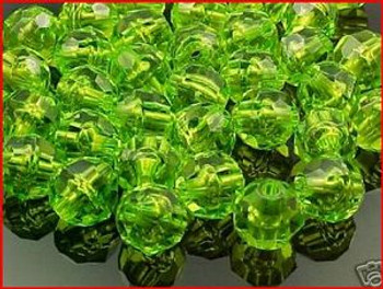 Beads Faceted 10mm TRANS.OLIVE 36/PK*