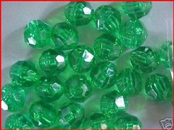 Beads Faceted 10mm TRANS.MINT 36/PK