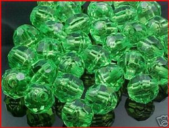 Beads Faceted 10mm TRANS.LIME 36/PK