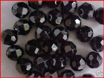 Beads Faceted 10mm BLACK 36/PK