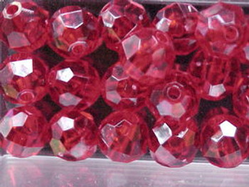 Beads Faceted 10mm RUBY RED 36/PK