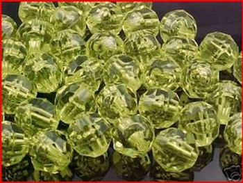 Fishing  Beads Faceted 10mm TRANS.YELLOW 36/PK