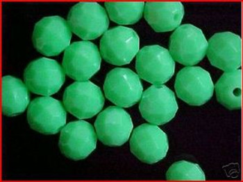 Fishing Beads Faceted 10mm GREEN 36/PK