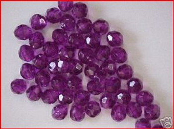 Fishing Beads Faceted 8mm PURPLE 50/PK