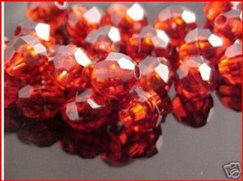 Fishing Beads Faceted 8mm AMBER 50/PK*