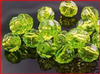 Fishing Beads Faceted 8mm AVACADO 50/PK