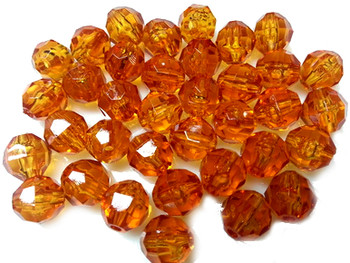 Fishing Beads Faceted 8mm GOLDEN YELLOW 50/PK