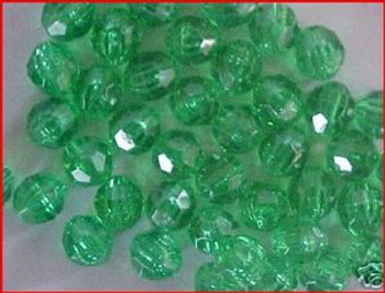 Fishing Beads Faceted 8mm TRANS.MINT 50/PK
