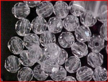Fishing Beads Faceted 8mm CLEAR 50/PK