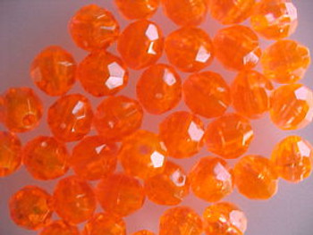 Fishing Beads Faceted 8mm TRANS.ORANGE 50/PK