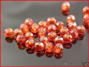 Beads Faceted 4mm ROOTBEER 100/PK