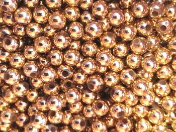 Fishing Beads Round 3mm BRASS