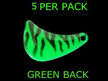 HATCHET blades #4.5 GREEN ZEBRA