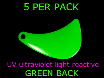 HATCHET blades #4.5 UV GREEN