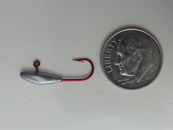 ICE FISHING JIGS #8 PREY FRY RED HOOK UNPAINTED