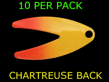 DAKOTA spinner blades #2 CHART/ORANGE SPLASH