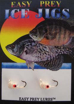 ICE FISHING JIGS #10 SS MINNOW RED GLOW / EASY PREY LURES
