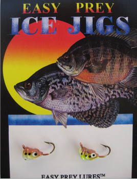 ICE FISHING JIGS #10 SS MINNOW BROWN TROUT / EASY PREY LURES