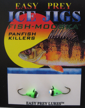 ICE FISHING JIGS #10 ICE MOOSKA GREEN-BLACK / EASY PREY LURES