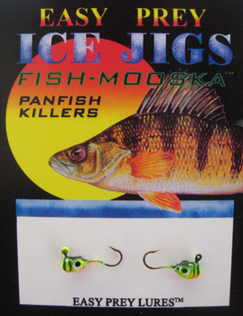 ICE FISHING JIGS #10 LS MINNOW FIRETIGER / EASY PREY LURES
