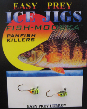 ICE FISHING JIGS #10 LS MINNOW PERCH / EASY PREY LURES