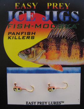 ICE FISHING JIGS #10 LS MINNOW BROWN TROUT / EASY PREY LURES