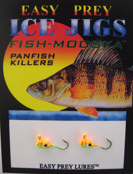 ICE FISHING JIGS #10 LS MINNOW CHART-ORANGE / EASY PREY LURES