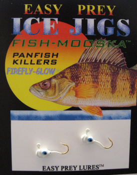 ICE FISHING JIGS #10 LS MINNOW BLUE GLOW / EASY PREY LURES
