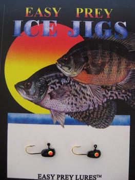 ICE FISHING JIGS #12 MICRO MINNOW BLACK / EASY PREY LURES