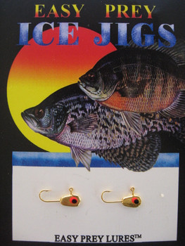 ICE FISHING JIGS #12 MICRO MINNOW GOLD / EASY PREY LURES