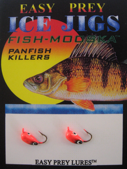 ICE FISHING JIGS #12 BUG MOOSKA RED/BLACK / EASY PREY LURES