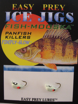 ICE FISHING JIGS #12 BUG MOOSKA NATURAL GLOW / EASY PREY LURES