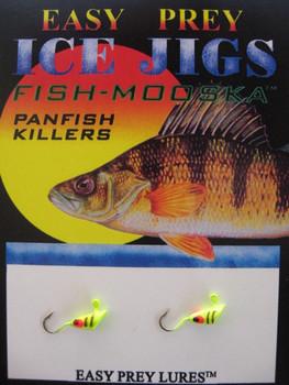 ICE FISHING JIGS #12 SHRIMP MOOSKA CHARTREUSE / EASY PREY LURES