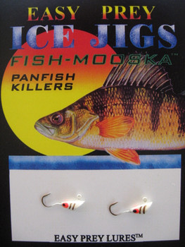 ICE FISHING JIGS #12 SHRIMP MOOSKA WHITE / EASY PREY LURES