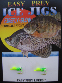 ICE FISHING JIGS #12 ICE SLUG CHART/GREEN / EASY PREY LURES