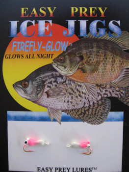 ICE FISHING JIGS #12 ICE SLUG PEARL-PINK / EASY PREY LURES