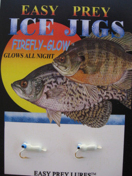 ICE FISHING JIGS #12 ICE SLUG BLUE GLOW / EASY PREY LURES
