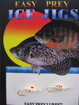 ICE FISHING JIGS #8 PANTICK RED GLOW / EASY PREY LURES