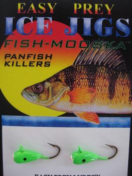 ICE FISHING JIGS #8 ICE MOOSKA GREEN / EASY PREY LURES