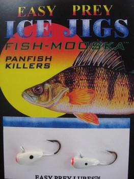 ICE FISHING JIGS #8 ICE MOOSKA WHITE / EASY PREY LURES