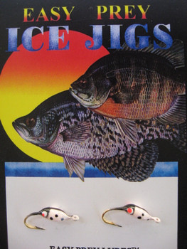 ICE FISHING JIGS #8 LADYBUG RED GLOW / EASY PREY LURES