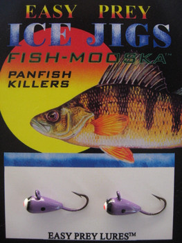 CRAPPIE ICE FISHING LURES #8 ICE MOOSKA PURPLE/BLACK / EASY PREY LURES